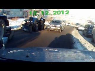 Пьяный дурак за рулем во Владивостоке